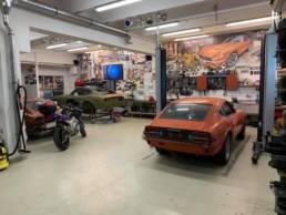 Datsun 240Z workshop in the USA